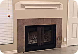 Peachtree fireplace after