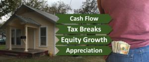 Cash flow, tax breaks, equity growth, appreciation
