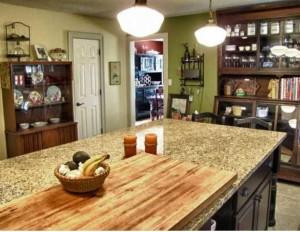 The beautiful kitchen island.