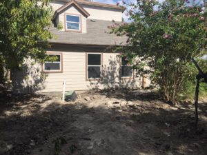 The casita exterior. Note mess in front of it.