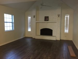 New flooring in the large main house family room