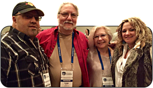 Larry, Lee, Sue Ann, and Valerie at an event in Houston. If you live life with a service mentality, everyone you meet is your partner.