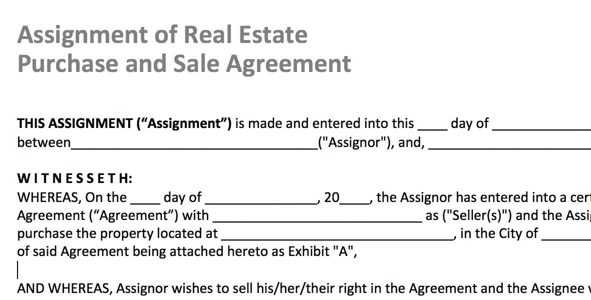 Real Estate Purchase Contract Template Real Estate