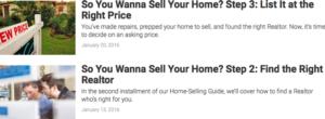 Realtor.com referring to listing agents