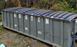 Covered dumpster
