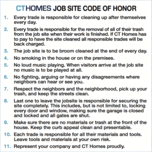 Jobe Site Code of Honor