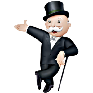 Happy Monopoly Money Man
