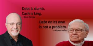 Opinions differ of debt.