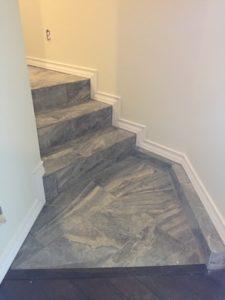 tile steps.