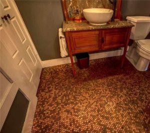 bathroom of old bank
