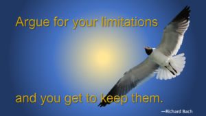 Argue for your limitations and you get to keep them.