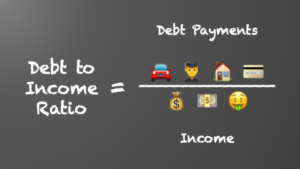 Debt Ratio = Monthly Debt Payments divided by Monthly Income